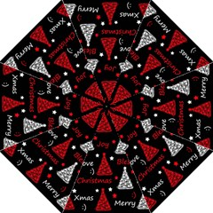 New Year Pattern   Red Folding Umbrellas by Valentinaart