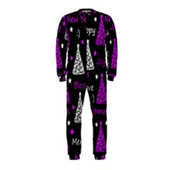 New Year Pattern   Purple Onepiece Jumpsuit (kids) by Valentinaart