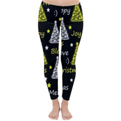 New Year Pattern   Yellow Classic Winter Leggings