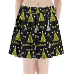 New Year Pattern   Yellow Pleated Mini Skirt by Valentinaart