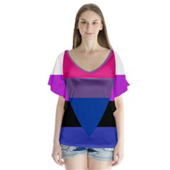 Combo Flag Flutter Sleeve Top