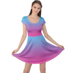 Blue Pink Purple Cap Sleeve Dresses
