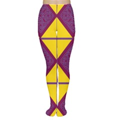 Complexion Purple Yellow Women s Tights