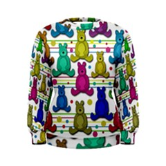 Teddy Bear Women s Sweatshirt by Valentinaart