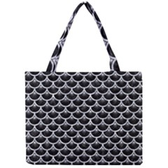 Scales3 Black Marble & Gray Marble Mini Tote Bag by trendistuff