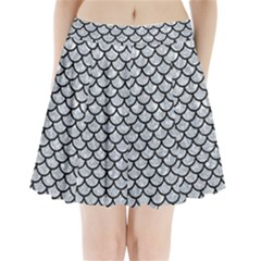 Scales1 Black Marble & Gray Marble (r) Pleated Mini Skirt
