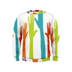 Hand Coloor Kids  Sweatshirt by AnjaniArt