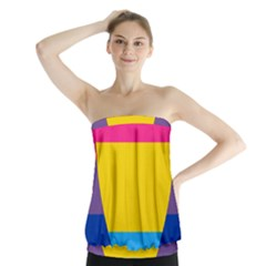 Panromantic Flags Love Strapless Top