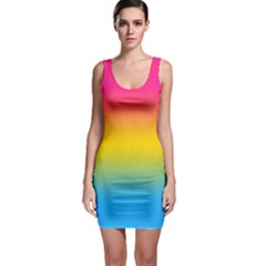 Pink Orange Green Blue Sleeveless Bodycon Dress by AnjaniArt