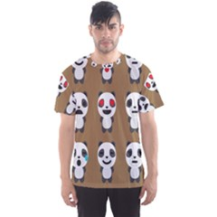Panda Emoticon Men s Sport Mesh Tee by AnjaniArt