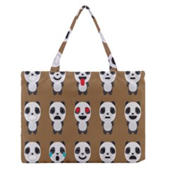 Panda Emoticon Medium Zipper Tote Bag