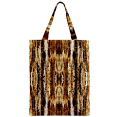 Beige Brown Back Wood Design Zipper Classic Tote Bag by Costasonlineshop