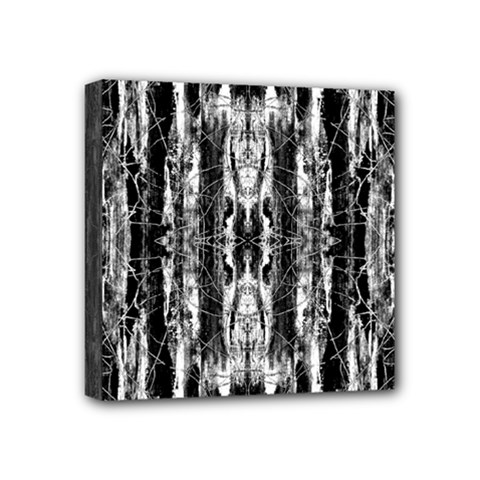 Black White Taditional Pattern  Mini Canvas 4  X 4  by Costasonlineshop