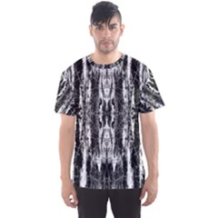 Black White Taditional Pattern  Men s Sport Mesh Tee