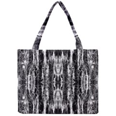 Black White Taditional Pattern  Mini Tote Bag by Costasonlineshop