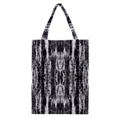 Black White Taditional Pattern  Classic Tote Bag