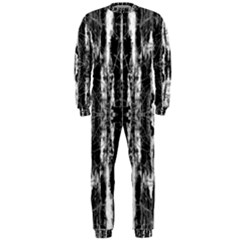 Black White Taditional Pattern  Onepiece Jumpsuit (men)  by Costasonlineshop