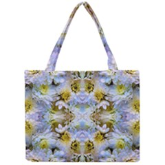 Blue Yellow Flower Girly Pattern, Mini Tote Bag by Costasonlineshop