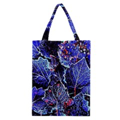 Blue Leaves In Morning Dew Classic Tote Bag by Costasonlineshop