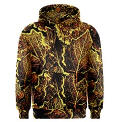 Leaves In Morning Dew,yellow Brown,red, Men s Pullover Hoodie