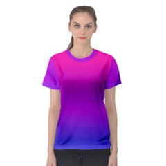 Pink Purple Blue Women s Sport Mesh Tee