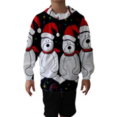 Polar Bear   Xmas Design Hooded Wind Breaker (kids)