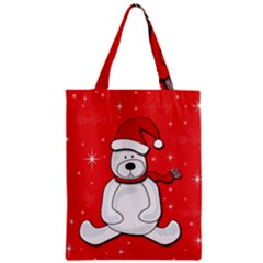 Polar Bear   Red Zipper Classic Tote Bag by Valentinaart