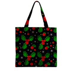 Xmas Magical Pattern Zipper Grocery Tote Bag by Valentinaart