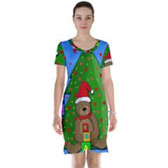 Xmas Gifts Short Sleeve Nightdress by Valentinaart