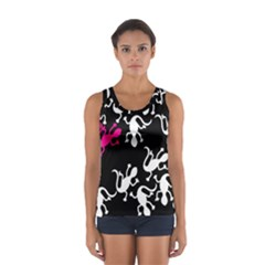 Magenta Lizard Women s Sport Tank Top  by Valentinaart