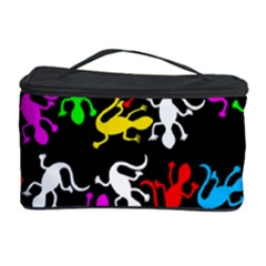 Colorful Lizards Pattern Cosmetic Storage Case by Valentinaart