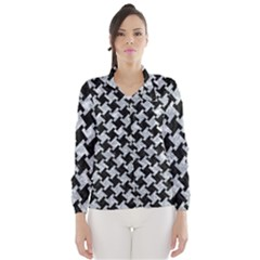 Houndstooth2 Black Marble & Gray Marble Wind Breaker (women) by trendistuff