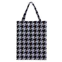 Houndstooth1 Black Marble & Gray Marble Classic Tote Bag by trendistuff