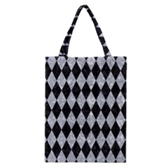 Diamond1 Black Marble & Gray Marble Classic Tote Bag by trendistuff