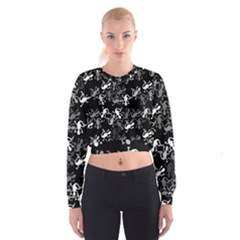 Gray Lizards Women s Cropped Sweatshirt