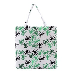 Lizards Pattern   Green Grocery Tote Bag by Valentinaart