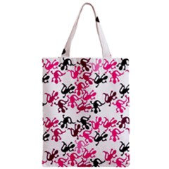 Lizards Pattern - Magenta Zipper Classic Tote Bag by Valentinaart