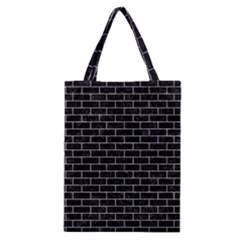 Brick1 Black Marble & Gray Marble Classic Tote Bag by trendistuff