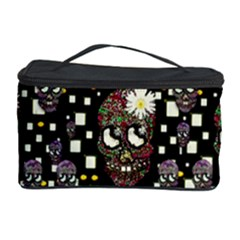 Floral Skulls With Sugar On Cosmetic Storage Case by pepitasart