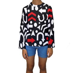 Right Direction   Red Kids  Long Sleeve Swimwear