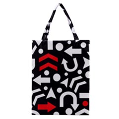 Right Direction   Red Classic Tote Bag by Valentinaart