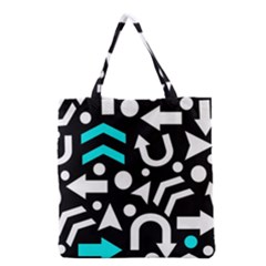 Right Direction   Cyan Grocery Tote Bag by Valentinaart