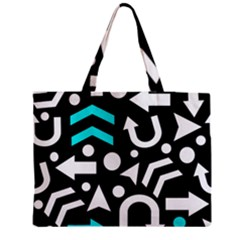 Right Direction   Cyan Medium Tote Bag