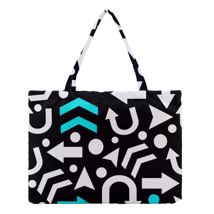 Right direction - cyan Medium Tote Bag