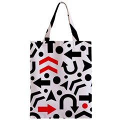 Red Right Direction Zipper Classic Tote Bag by Valentinaart