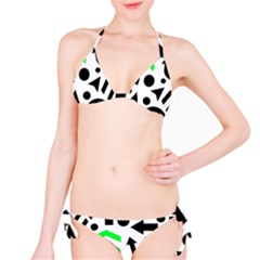 Green Right Direction  Bikini Set by Valentinaart