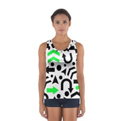 Green Right Direction  Women s Sport Tank Top  by Valentinaart