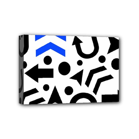 Blue Right Direction Mini Canvas 6  X 4  by Valentinaart