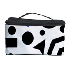 Blue Right Direction Cosmetic Storage Case by Valentinaart