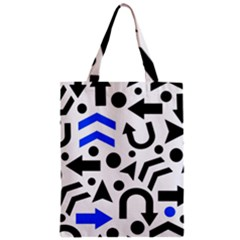 Blue Right Direction Zipper Classic Tote Bag by Valentinaart